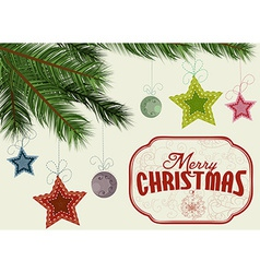 Christmas tree branches background vector image vector image