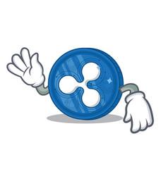 Crazy ripple coin character cartoon vector