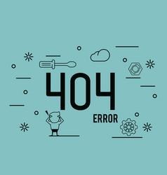 error 404 infographic vector image