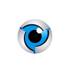 Eye robo cam monitor logo vector