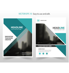 Green abstract annual report brochure vector