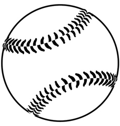 image of a baseball isolated in white background vector image