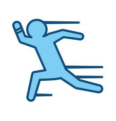 Man running silhouette vector