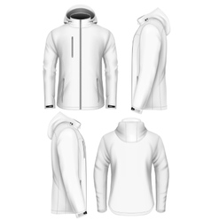 Men hooded softshell jacket design template vector