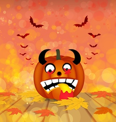 Pumpkin autumn background vector