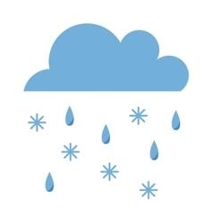 rain and sbow cloud vector image