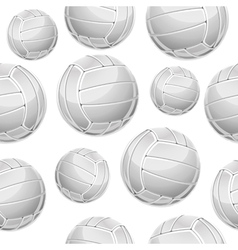 Volley Balls Seamless Pattern vector image