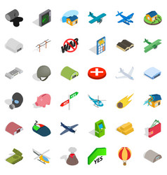 War icons set isometric style vector