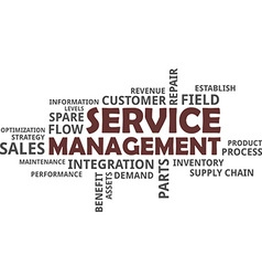 word cloud service management vector image vector image