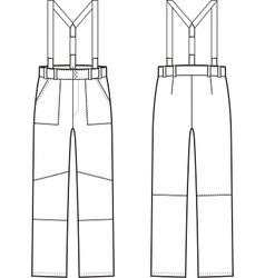 Work pants vector