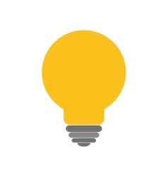 Light bulb power energy icon graphic vector