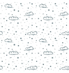 Snow and clouds pattern vector