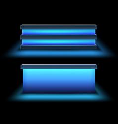 Set of bar counters vector