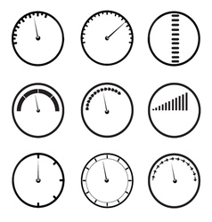 Gauges icons set vector
