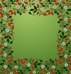 Frame border seamless texture with berries vector