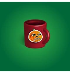 Cup halloween souvenir vector