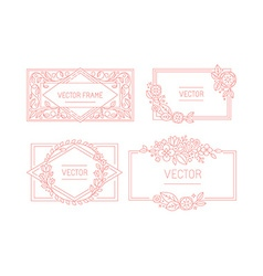 Floral frame with copy space for text in trendy vector
