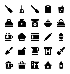 Kitchen utensils icons 5 vector