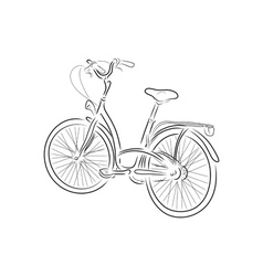 Outline of bicycle vector