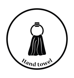 Hand towel icon vector