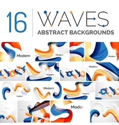 Motion concept abstract background set vector image
