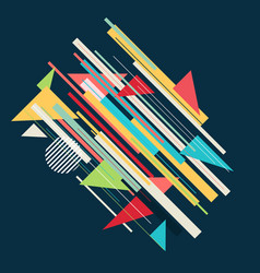 abstract retro design vector image