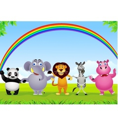 animal group vector image vector image