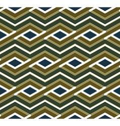 Bright geometric zigzag seamless pattern symmetric vector image vector image