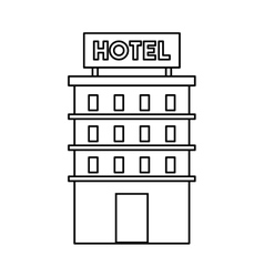 Building construction hotel isolated icon vector