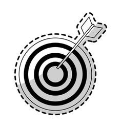 bullseye target icon image vector image