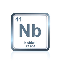 Chemical element niobium from the periodic table vector