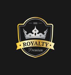 crown logo template luxury corona monogram vector image vector image