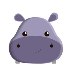 cute hippopotamus isolated icon vector image vector image