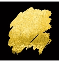 Gold texture hand drawn brush vector