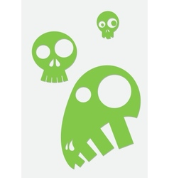 green stylized skull vector image