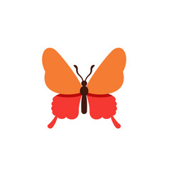 isolated butterfly flat icon danaus plexippus vector image vector image