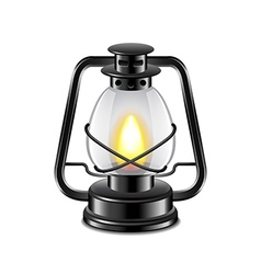 Kerosene lamp isolated on white vector image
