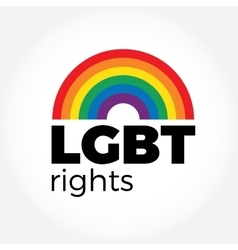 LGBT support symbol in rainbow colors with vector image vector image