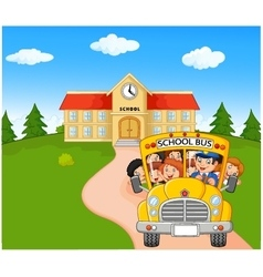 Little kids are going to home vector image
