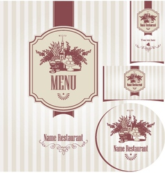 menu set vector image vector image