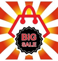 Sale shopping bag vector image