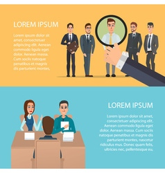 Selection of business staff cartoon poster vector