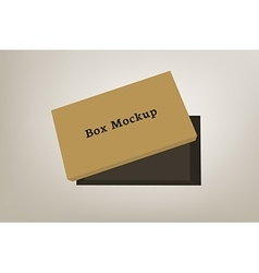 Shoes product packaging mock-up box 3 vector