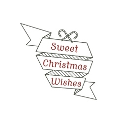 Sweet christmas wishes typography sign vector