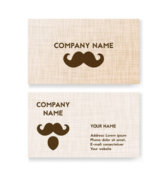 template business card for barbershop vector image