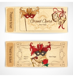 Theatre sketch tickets vector image vector image