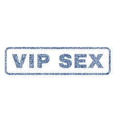 Vip sex textile stamp vector