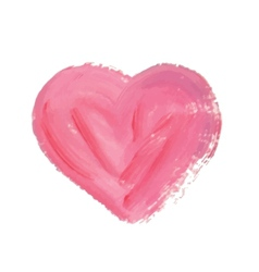 Watercolor hand drawn heart vector image