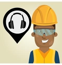 Worker protection industrial vector