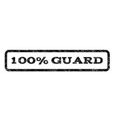100 percent guard watermark stamp vector